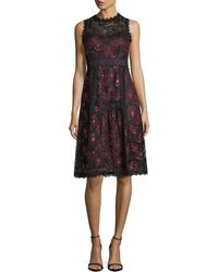 Nanette Lepore - Ruby Sleeveless A-line Lace Cocktail Dress W/ Sequins - Lyst