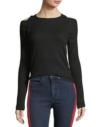 Rag & Bone - Rosalind Crewneck Long-sleeve Rib-knit Sweater - Lyst