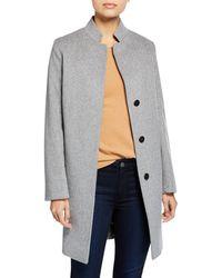 Fleurette - Inverted-collar Wool Coat - Lyst