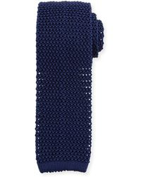 Ralph Lauren - Silk Knit Flat-end Skinny Tie - Lyst