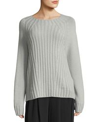 Vince - Raglan Ribbed Crewneck Wool-cashmere Pullover Sweater - Lyst