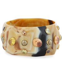 Ashley Pittman - Lipua Faceted Light Horn Bangle - Lyst