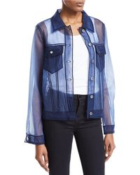 Viktor & Rolf - Tulle Denim Button-front Jacket - Lyst