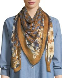 Lafayette 148 New York - Gallant Blooms Square Scarf - Lyst