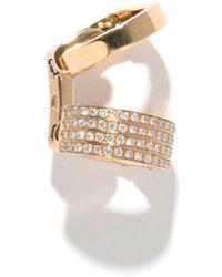 Repossi - Single Berbere Double-cuff Earring With Diamonds - Lyst