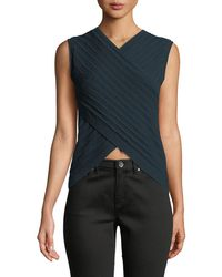 Theory - Pointelle Prosecco Knit Crisscross Top - Lyst