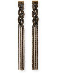Auden | Cordelia Fringe Chain Earrings | Lyst