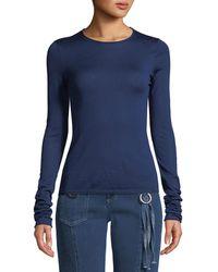 Christian Wijnants - Kariqa Merino Wool Long-sleeve Sweater - Lyst