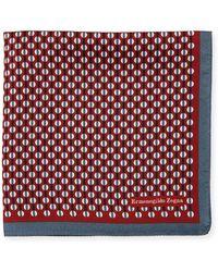 Ermenegildo Zegna - Circular-pattern Silk Pocket Square - Lyst