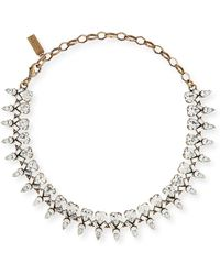 Auden - Arya Clear Crystal Statement Necklace - Lyst