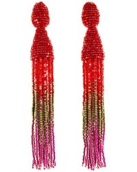 Oscar de la Renta - Ombre Crystal Tassel Earrings - Lyst