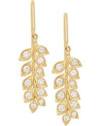 Jamie Wolf - 18k Small Diamond Vine Drop Earrings - Lyst