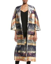 Adam Lippes | One-button Silk-lame Multipattern Jacquard Reversible Coat | Lyst