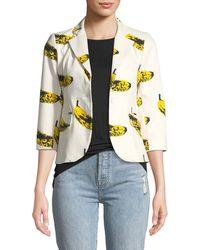 Libertine - 3/4-sleeve Banana-print Blazer - Lyst