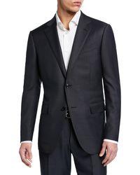 Ermenegildo Zegna - Men's Tonal Stripe Two-piece Wool/silk Suit - Lyst