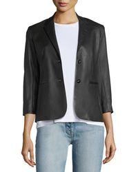 The Row - Nolbon Leather Jacket - Lyst