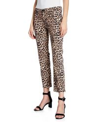 Hudson Jeans Nico Mid-rise Printed Cigarette Jeans