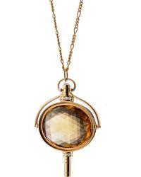 Monica Rich Kosann - Honey Quartz Oval Key Necklace - Lyst