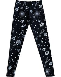 Terez - Hologram Galaxy Foil-print Leggings - Lyst