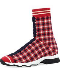 be656e6131814 Fendi Rockoko Knit Sock Sneaker in Black for Men - Lyst