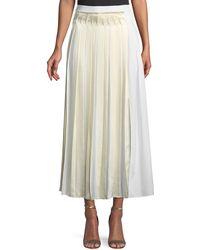 3.1 Phillip Lim - Pleated Cotton Poplin Maxi Skirt - Lyst