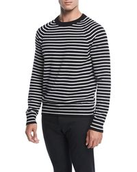 Vince | Striped Wool Sweater | Lyst