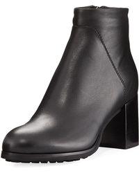 Aquatalia - Everett Grained Leather Block-heel Boot - Lyst