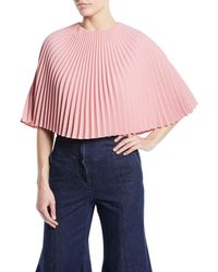 Sara Battaglia - Pleated Cape Top - Lyst