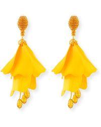 Oscar de la Renta - Impatiens Flower Drop Earrings - Lyst
