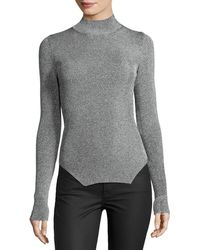 Thierry Mugler - Ribbed Mock-neck Sweater - Lyst