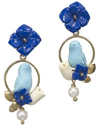 Of Rare Origin - Chicks Lapis & Turquoise Bird Earrings - Lyst