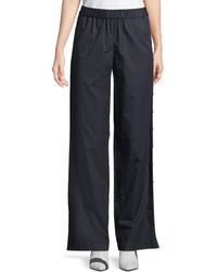 Tibi - Poplin Side-snap Wide-leg Pants - Lyst