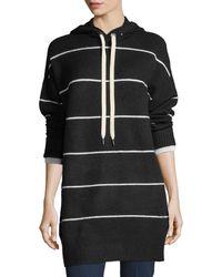Alice + Olivia - Riva Long-sleeve Hooded Striped Tunic - Lyst