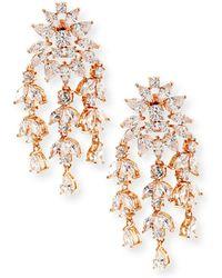 Fallon | Monarch Weeping Fern Crystal Earrings | Lyst