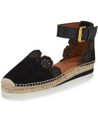 See By Chloé | Glyn Suede D'orsay Espadrille | Lyst