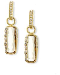 Jude Frances - Sonoma Long Cushion Champagne Citrine Earring Charms With Diamonds - Lyst