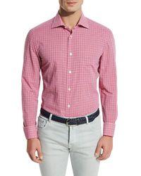 Kiton - Check Pocket Sport Shirt - Lyst