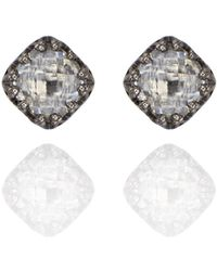Larkspur & Hawk - Jane Small Button Earrings In Dove - Lyst