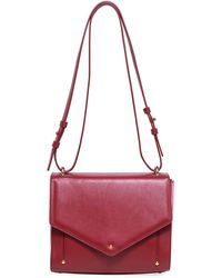 Sara Battaglia - Linda Leather Plissé Crossbody Bag - Lyst