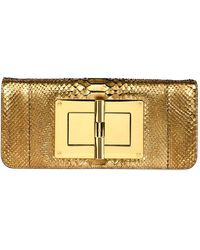 Tom Ford - Natalia Long Cosmo Python Clutch Bag - Lyst