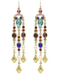 18dcaac13 Gucci Multicolor Loved Pendant Pearl Earrings in Metallic - Lyst