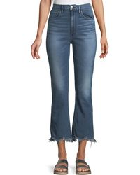 3x1 - W5 Empire Cropped Bell-bottom Jeans - Lyst