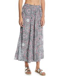 Seafolly - Printed Wide-legs Trousers - Lyst