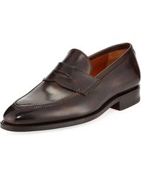 Bontoni - Principe Leather Penny Loafer - Lyst