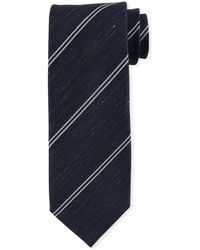Tom Ford - Striped Silk-linen Tie - Lyst