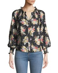 Rebecca Taylor - Silk Floral Blouse - Lyst