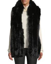 Belle Fare - Long Sleeveless Fur Vest - Lyst