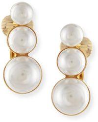 Auden - Lana Pearl Clip Earring - Lyst
