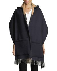 Burberry - Helene Wool-cashmere Hooded Stole - Lyst