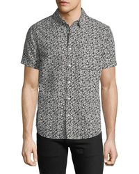AG Jeans - Men's Nash Floral-print Short-sleeve Sport Shirt - Lyst